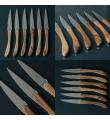 Eske med 12 Laguiole En Aubrac Valnöt biffkniver