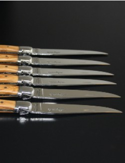 6 stk. Jean Dubost Laguiole Kniver (Olive Wood)
