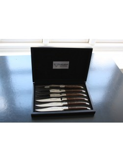 Eske med 12 Laguiole En Aubrac Wenge biffkniver